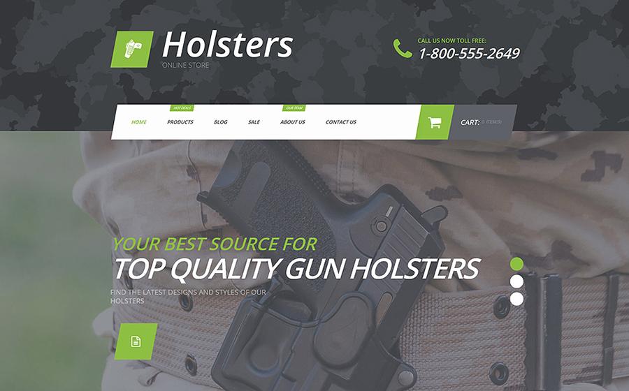 Tema Shopify del negozio di armi