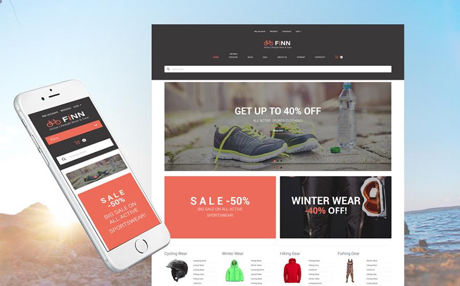 Ekstrem Sporlar Mağazası Duyarlı Shopify Teması