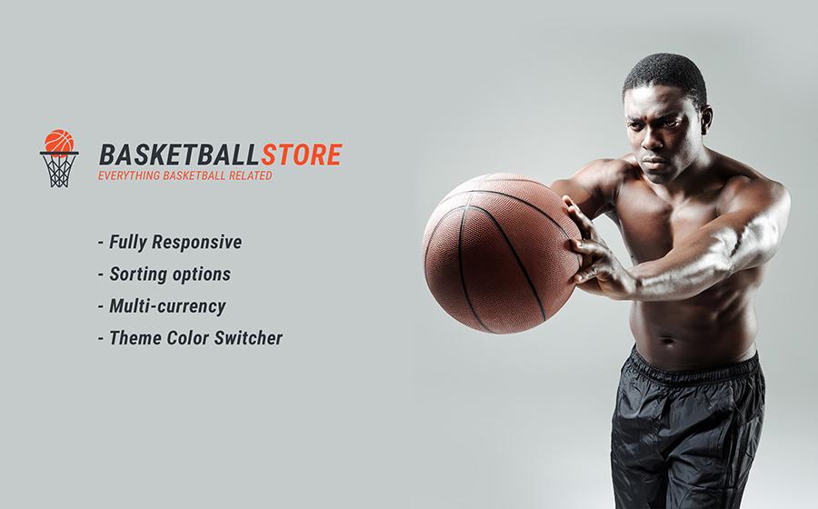 บาสเกตบอลตอบสนองธีม Shopify