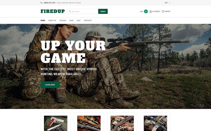 Silah Mağazası Duyarlı Shopify Teması
