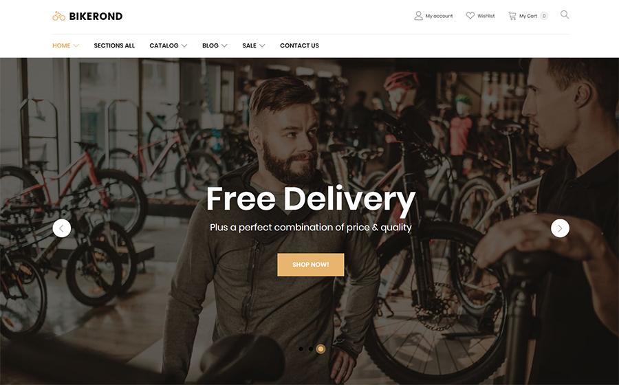 Modello di negozio di biciclette