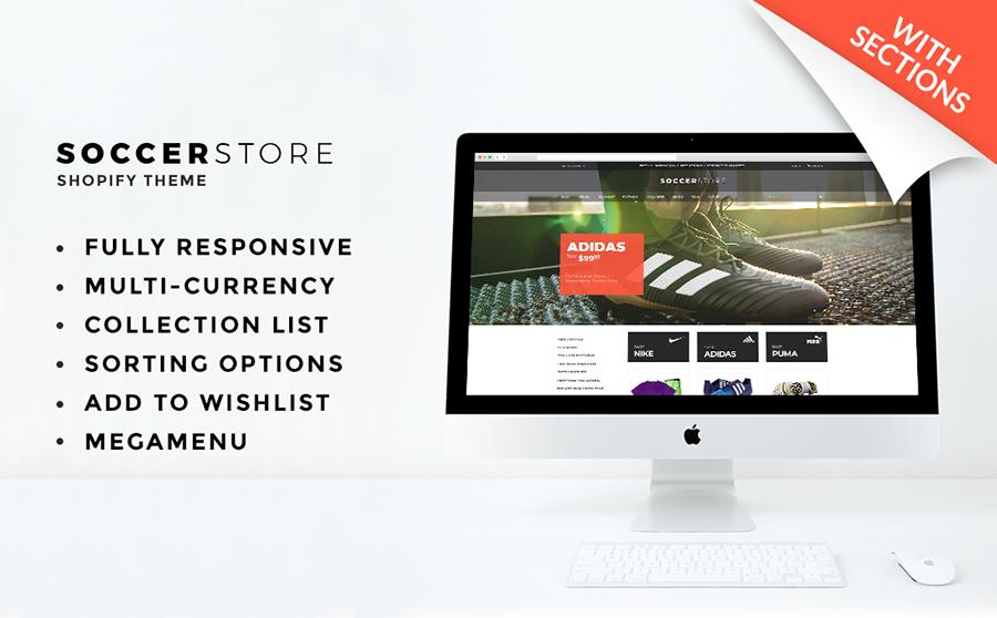 ธีม Shopify ของ Soccer Store