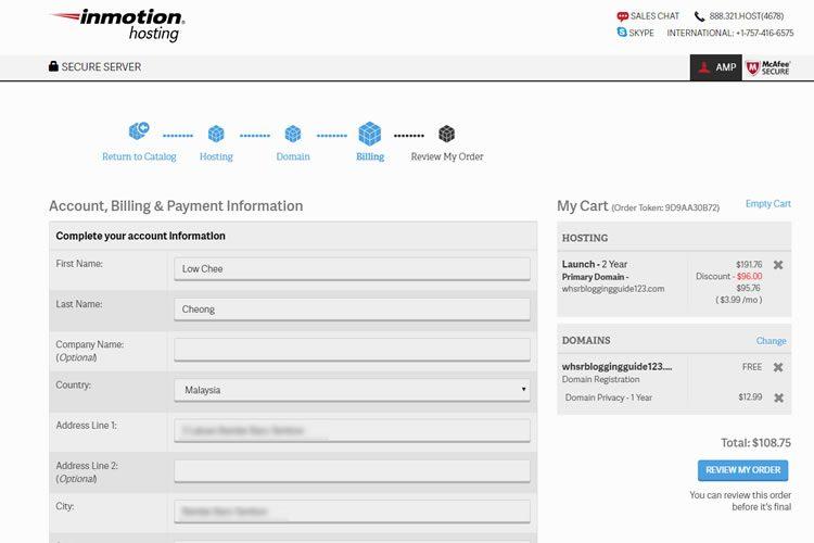 Bestellen Sie InMotion Hosting für Blog-Hosting.