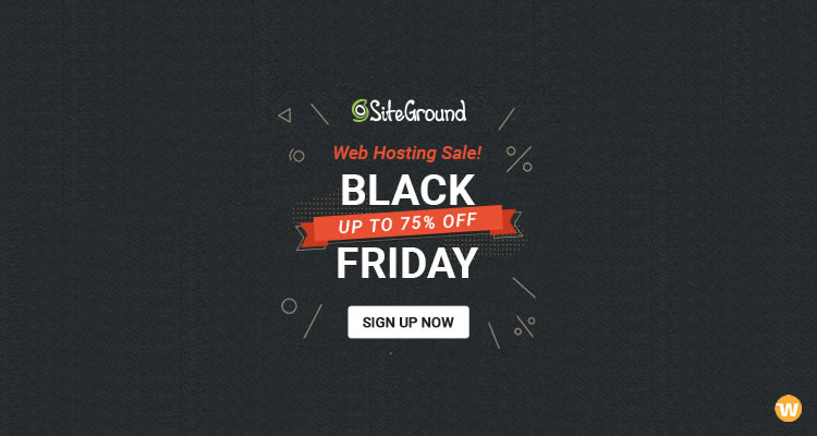 SiteGround Black Friday / Cyber Monday 2018