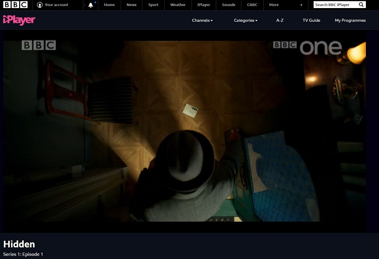 Streaming op BBC iPlayer via ExpressVPN.