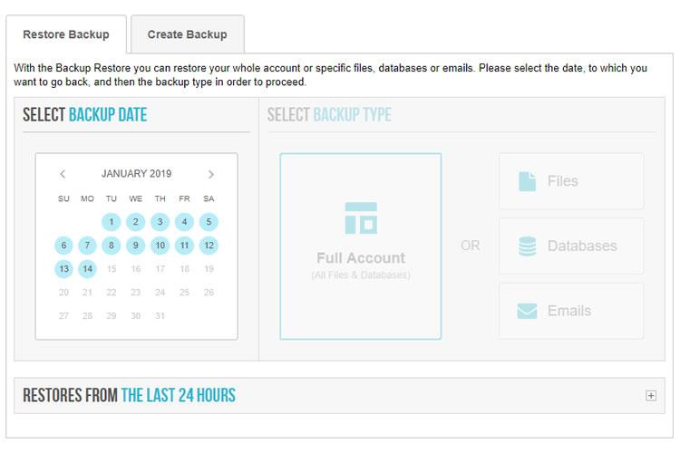 要訪問SiteGround Backup Restore,請登錄SiteGround用戶儀表板>支持>備份還原
